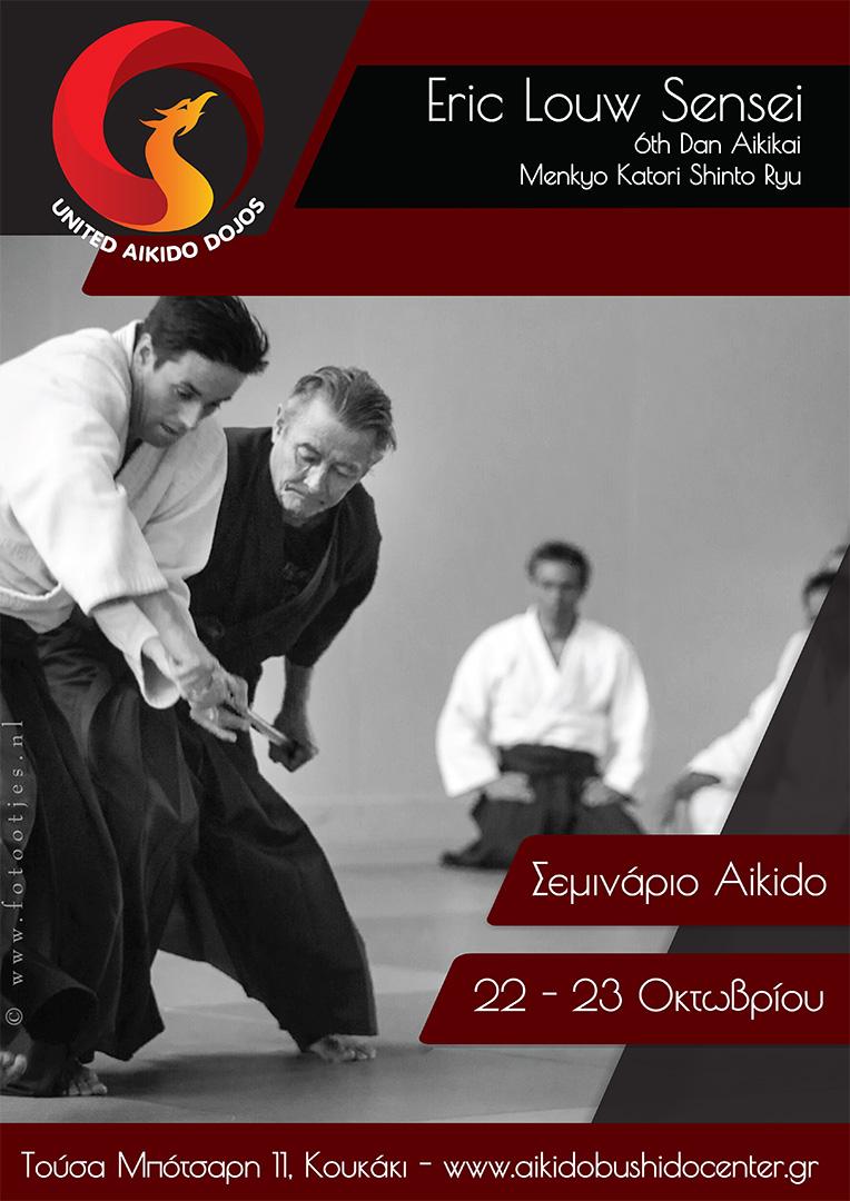 σεμινάριο aikido με τον Eric Louw sensei